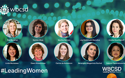 WBCSD announces Leading Women Awards recipients and Panel Pledge to ensure more gender balance and diversity in events